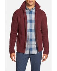 Victorinox | Red 'brigade' Zip Front Cardigan for Men | Lyst