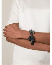 Lanvin - Blue Flower Bracelet - Lyst