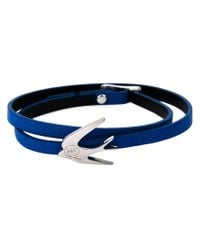 McQ | Blue Swallow Triple Wrap Bracelet | Lyst