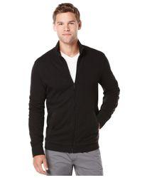 Perry Ellis - Blue Big And Tall Slub Full-zip Sweater for Men - Lyst