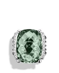 David Yurman | Metallic Wheaton Ring With Prasiolite And Diamonds | Lyst