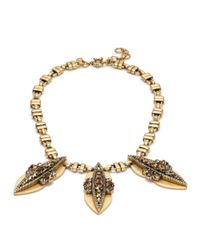 J.Crew | Metallic Crystal Peapod Necklace | Lyst