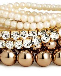 H&M - Metallic 7-Pack Bracelets - Lyst