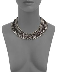 DANNIJO | Metallic Olivia Crystal Mixed Collar Necklace | Lyst