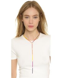 Gemma Redux | Multicolor Rainbow Bar Lariat Necklace - Rainbow | Lyst