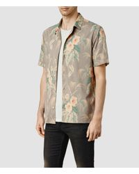 AllSaints - Multicolor Mawsim Ss Shirt for Men - Lyst