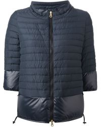 Duvetica - Blue Quilted Zip Front Jacket - Lyst