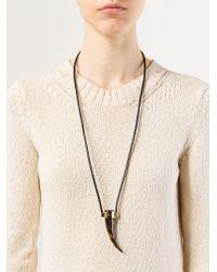 Michael Kors - Black Horn Pendant Necklace - Lyst