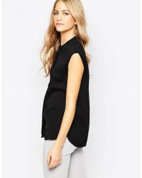 Just Female | Sleeveless Black Top | Lyst