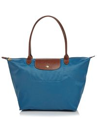 Longchamp | Blue Tote - Le Pliage Large Shoulder | Lyst
