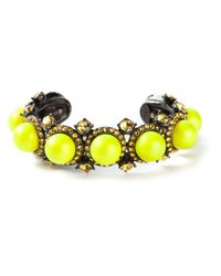 Lanvin | Yellow Beaded Cuff | Lyst