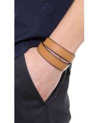 Ben Minkoff | Brown Waxy Leather Bracelet for Men | Lyst
