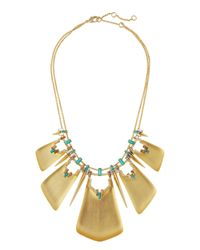 Alexis Bittar - Metallic Golden Lucite® & Crystal Statement Collar Necklace - Lyst