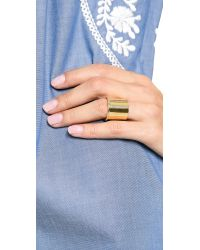 Elizabeth and James - Metallic Bauhaus Large Finger Ring - Lyst