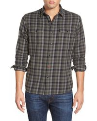 Katin | Green 'mac' Trim Fit Check Flannel Woven Shirt for Men | Lyst