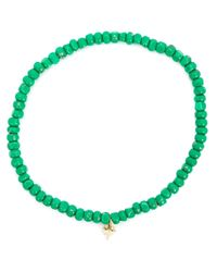 Luis Morais | Green Small Trikona Beaded Bracelet | Lyst