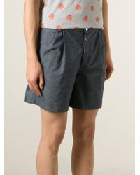 Kris Van Assche - Blue Denim Shorts for Men - Lyst