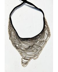 Urban Outfitters - Metallic What A Mesh Necklace - Lyst