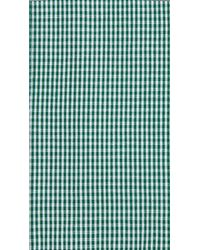 Burberry - Green Slim Fit Cotton Gingham Jacquard Shirt for Men - Lyst
