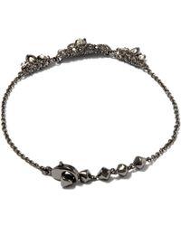 Alexis Bittar - Metallic Silver-tone Jagged Marquis Cluster Tennis Bracelet - Lyst