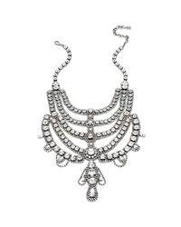 DANNIJO - Metallic Margaux Crystal Bib Necklace - Lyst