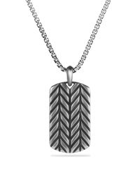 David Yurman | Metallic Modern Chevron Tag Necklace for Men | Lyst