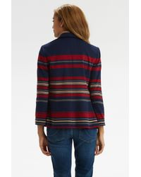 Oasis - Blue Clean Stripe Ponte Jacket - Lyst