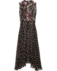 Duro Olowu | Black Ometa Printed Georgette Dress | Lyst