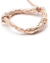 Niza Huang - Metallic 'illusion Circle' Necklace - Lyst
