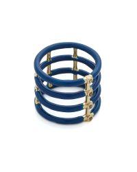 Elizabeth and James - Berlin Enamel Ring - Blue - Lyst