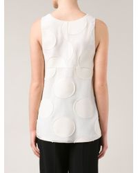 Chloé | White Cut-Out Sleeveless Top | Lyst