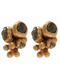 Ruth Tomlinson - Metallic Gold Diamond Cluster Studs - Lyst