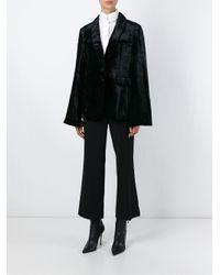 Sonia Rykiel - Black Flared-Sleeved Velvet Blazer  - Lyst