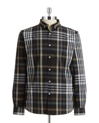 7 Diamonds | Brown Plaid Sportshirt for Men | Lyst