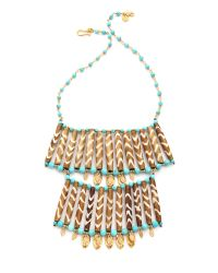 Chan Luu - Blue Two Layer Statement Necklace Turquoise Mix - Lyst