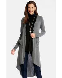 Karen Kane - Gray High/low Duster Cardigan - Lyst