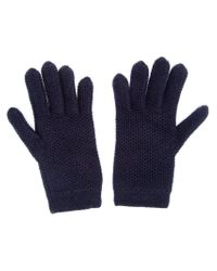 Inverni - Blue Knitted Gloves - Lyst