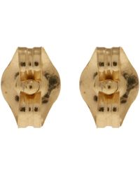 Alex Monroe - Metallic 18ct Gold Diamond Tiny Claw Stud Earrings - Lyst