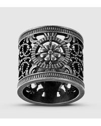 Gucci | Metallic Ring With Open Work Design for Men | Lyst
