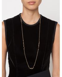Eddie Borgo - Metallic Onyx Curved Lariat Necklace - Lyst