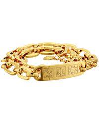 Lauren by Ralph Lauren - Metallic Il Pellicano 18 Rectangular Link with Id Bracelet - Lyst