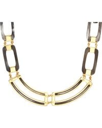 Maiyet | Metallic Grey Horn & Gold Short Necklace | Lyst