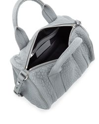 Alexander Wang - Rocco Dumbo Studbottom Satchel Bag Gray - Lyst