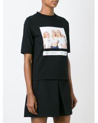 AALTO - Black Photo Print T-shirt - Lyst