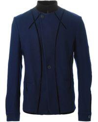 Haider Ackermann - Blue Mandarin Collar Blazer for Men - Lyst