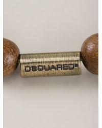 DSquared² - Brown Beaded Bracelet for Men - Lyst