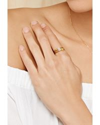 Forever 21 | Metallic Cool And Interesting A Initial Ring | Lyst