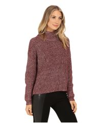 French Connection - Purple Otis Cowl Neck Sweater 78eel - Lyst