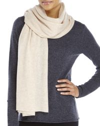 In Cashmere - Natural Solid Shawl - Lyst