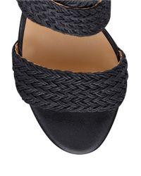 Nine West | Black Waldrid Wedge Sandals | Lyst